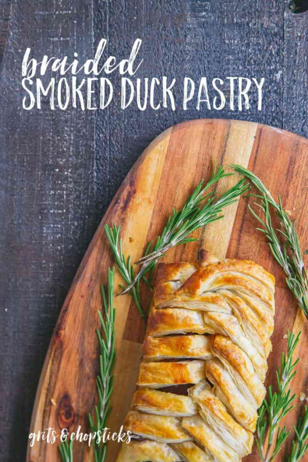 This holiday season, spice up your party spread with cured meats from Les Trois Petits Cochons, like this braided smoked duck pastry!