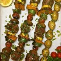 Steak Shish Kabobs with Chimichurri