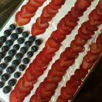 Red White and Blue No-Bake Icebox Cake