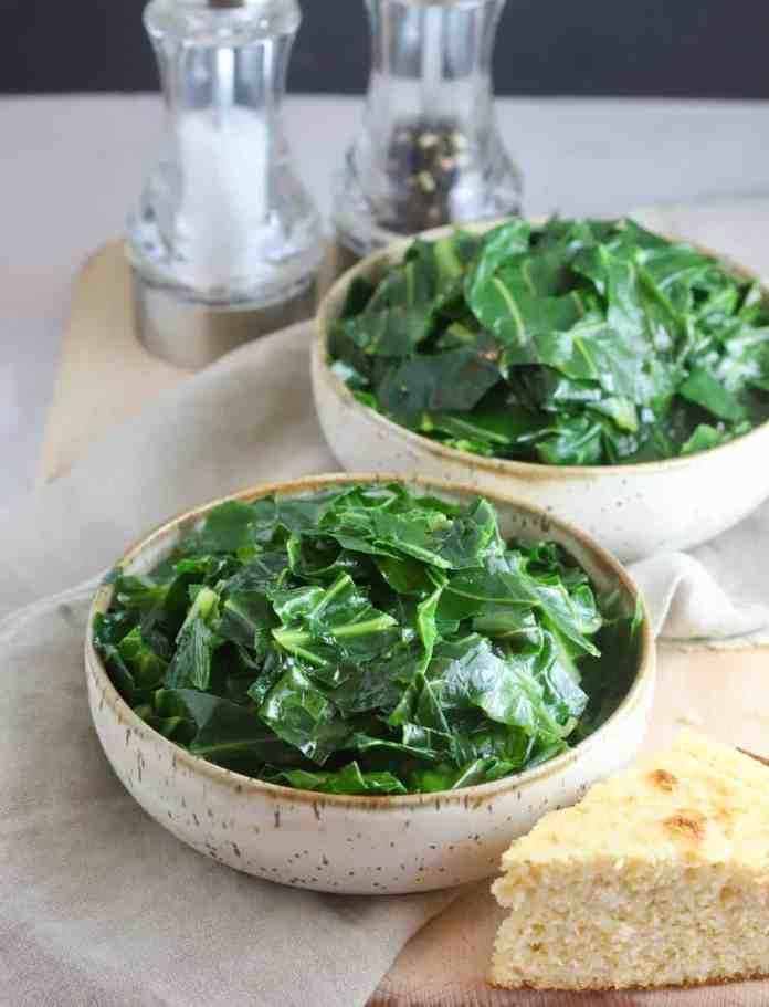 Healthy Southern Collard Greens Recipe Gritsandpinecones Com