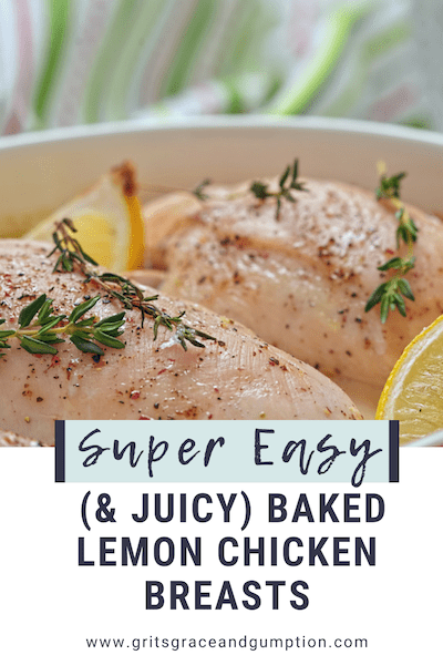 Super Easy Baked Lemon Chicken Breasts