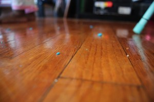 toddlers, Play-Doh and My Hardwood Floors/gritsngrace.com