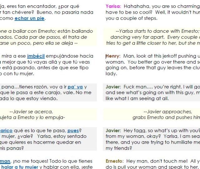 And This Is The Piece Of The Transcript In English And Spanish