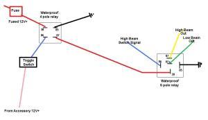 wiring lights help? (auxilliary HL beams)  Yamaha