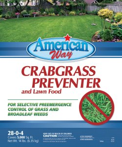 American Way Crabgrass Preventer - 14 lbs