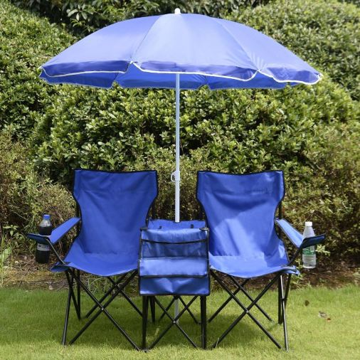 Folding Double Chair With Umbrella & Table Just $36.99! Down From $84!