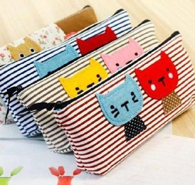 Cat Design Pencil Cases 4 Pc Set Just $3.74! Ships FREE!