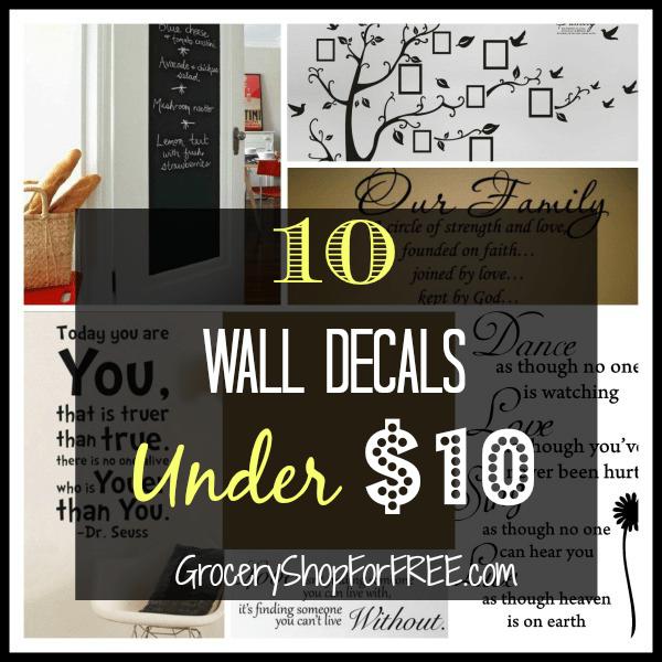 10 Wall Decals Under $10