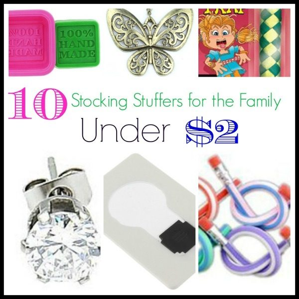 10 Stocking Stuffers For The Whole Family Under $2!