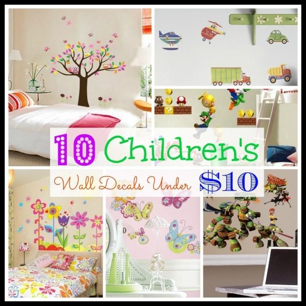 10 children's wall decals under $10