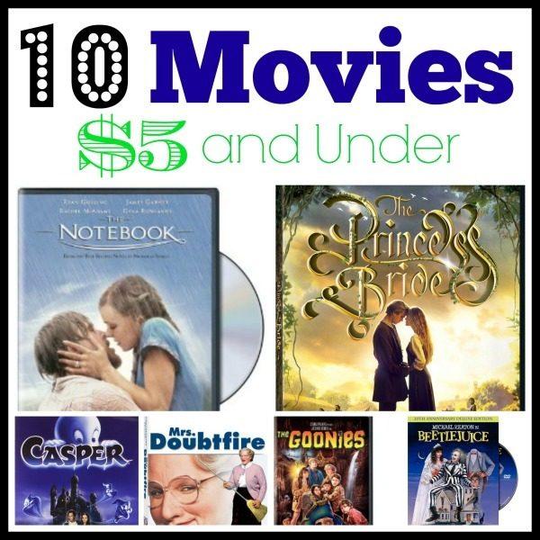 10 movies under $5 collage
