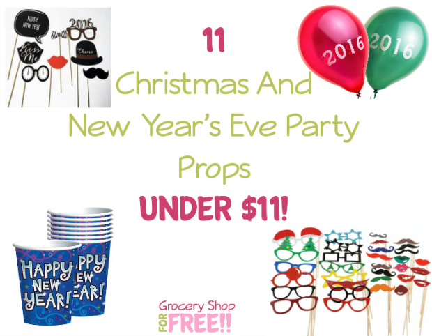 11 Christmas & New Year's Eve Party Props Under $11!
