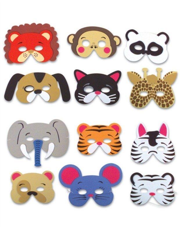 Set 12 Assorted Foam Animal Masks Only $5.29!