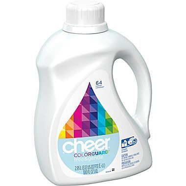 Cheer® HE Liquid Laundry Detergent, Free & Gentle, 100 oz. just $5.99! Down from $14.99!