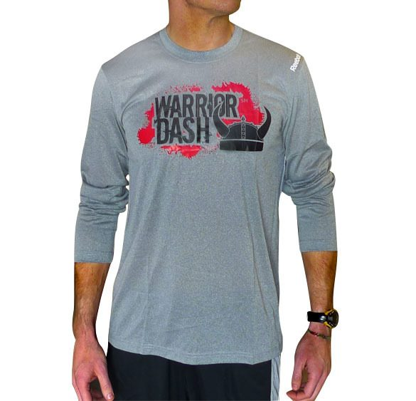 Reebok PlayDry Moisture Wicking Long Sleeve Tshirt - Warrior Dash Edition Only $6 Plus FREE Shipping!