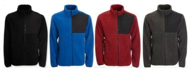 Aeropostale Men's Sherpa Fleece Zip Jackets Just $9.60!  Down From $54.50!