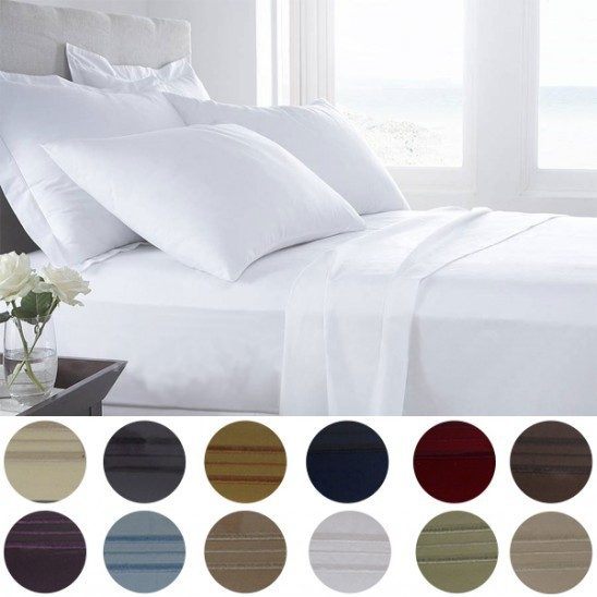 6 Pc Egyptian Comfort Bed Sheet Set In Queen Just $20.99! Ships FREE!
