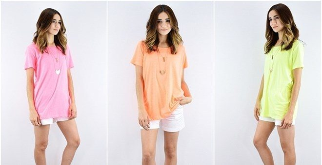 Cotton Boyfriend Top Only $9.99! Down From $19.99!