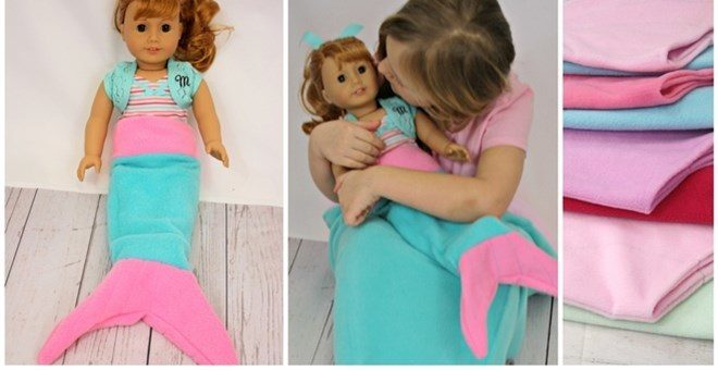 """18"""" Doll Mermaid Tail Sack/Blanket Only $6.99! Down From Up To $18.99!"""