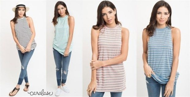 Striped Tunic Tanks Just $13.99!  (Was $29)
