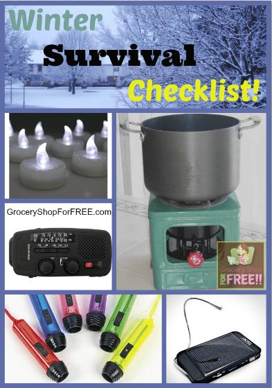 Winter Survival Checklist