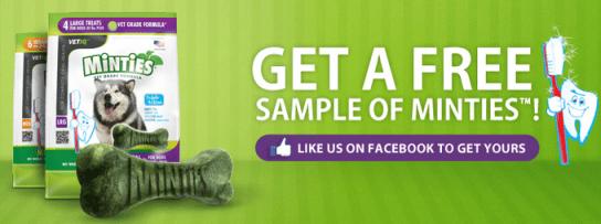 FREE Sample of Minties Dog Treats!
