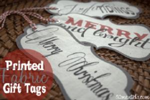 FREE Printable Fabric Gift Tags!