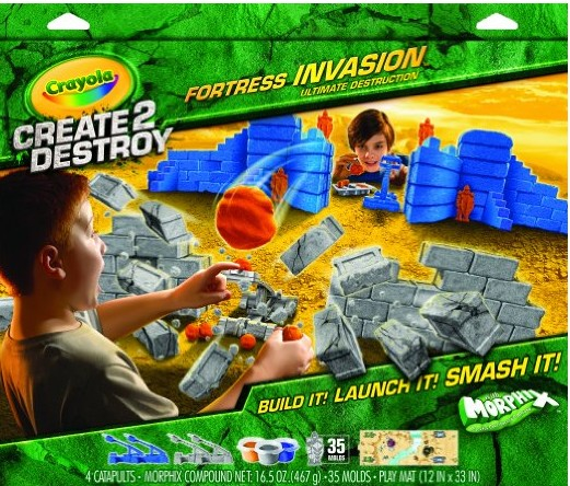 Crayola Create 2 Destroy Fortress Invasion Ultimate Destruction Playset $5.11 + FREE Shipping with Prime!
