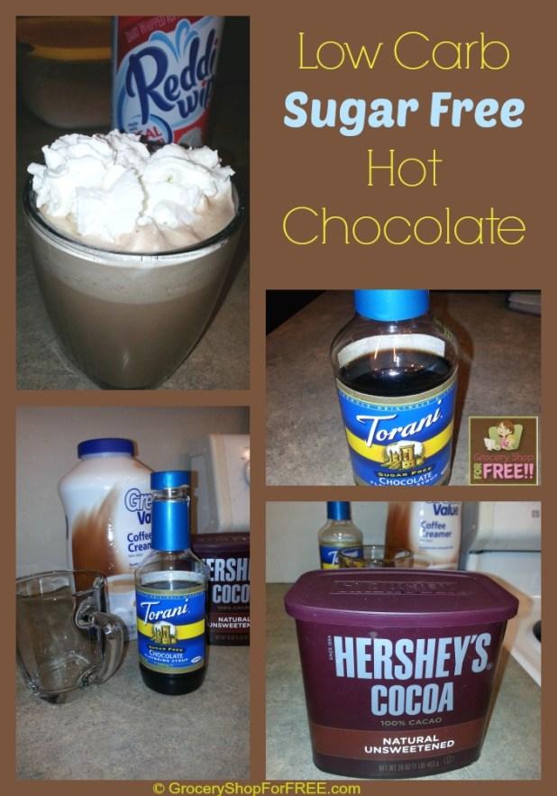 Sugar Free Hot Chocolate Low Carb Recipe!