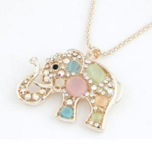 Rhinestone Elephant Necklace Just $3.49 SHIPPED!