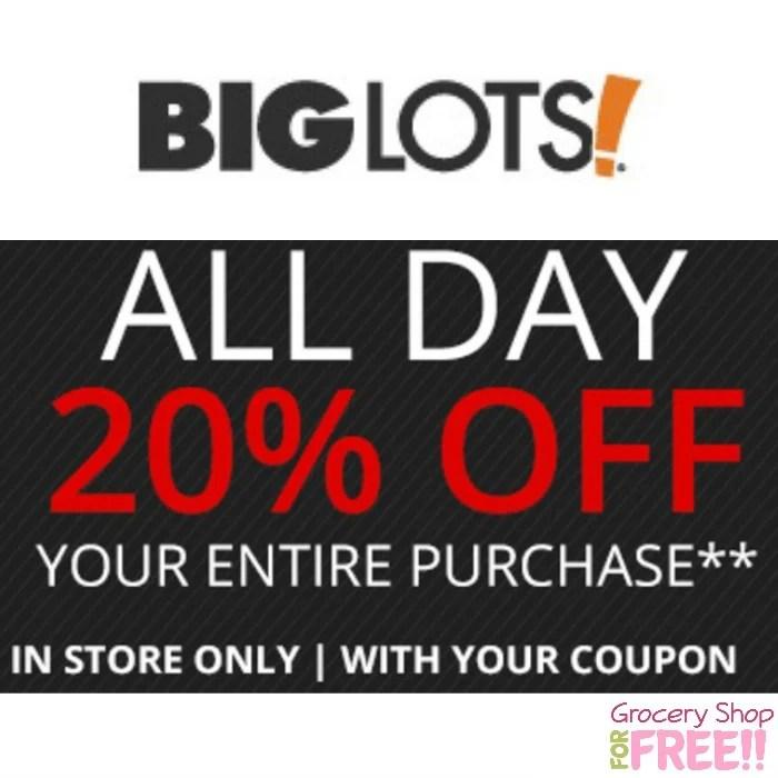 Big Lots 20% Off Coupon!