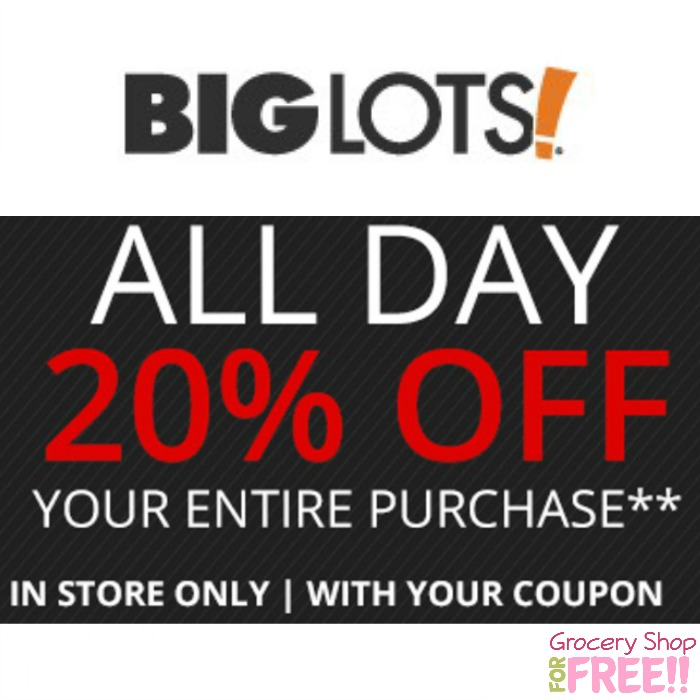 Big Lots 20% Off Coupon!