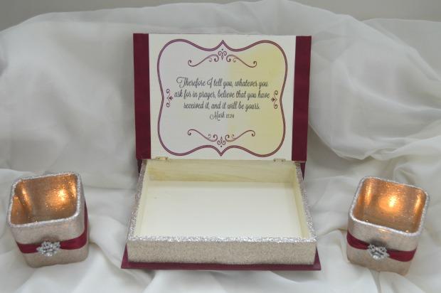 DIY Prayer Box & Candles open