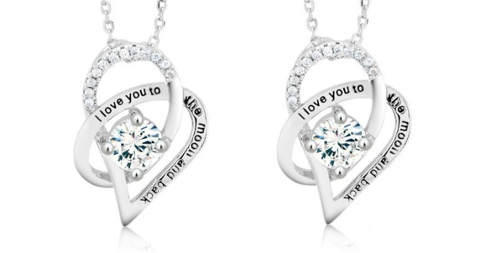 FREE I Love You To The Moon And Back Crystal Necklace! Down From $70!
