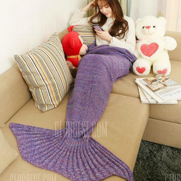 Mermaid Blanket Purple