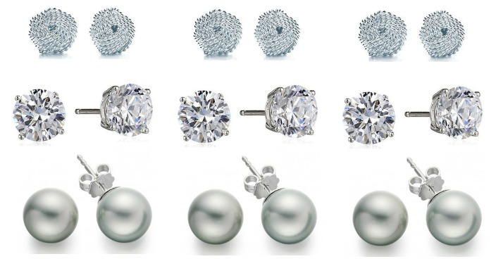 Sterling Silver Knot, Ball & CZ Earrings Just $8.99! Down From $150! Ships FREE!
