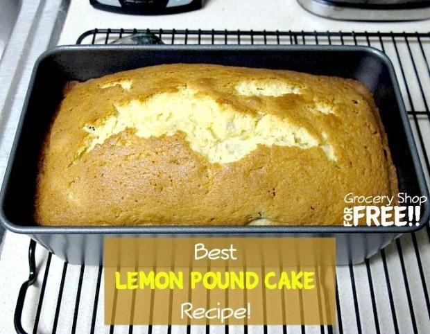 Best Lemon Pound Cake Recipe!