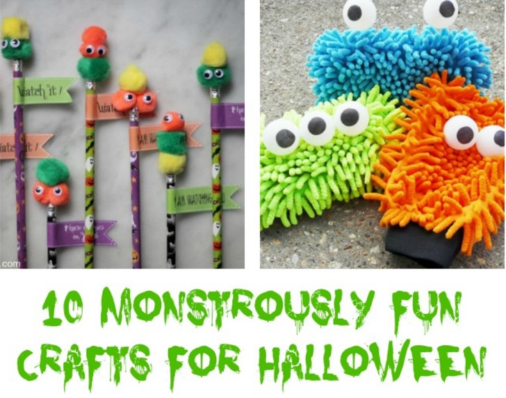 10 Monstrously Fun Crafts For Halloween!