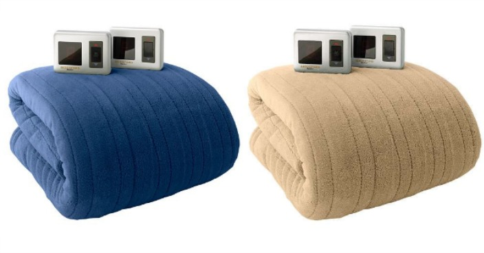 Biddeford Plush Heated Electric Twin Blankets Only $39.99! Down From $100!