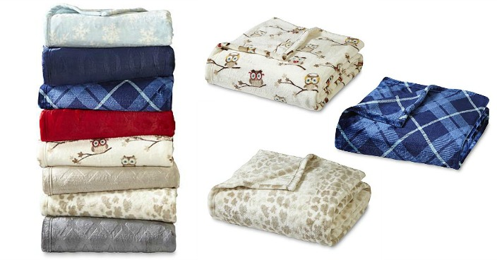 Cannon Velvet Plush Throw Just $9.99! Down From $20!