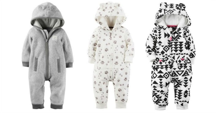 Carter's Hooded Fleece Coveralls Only $6.80! Down From $20!