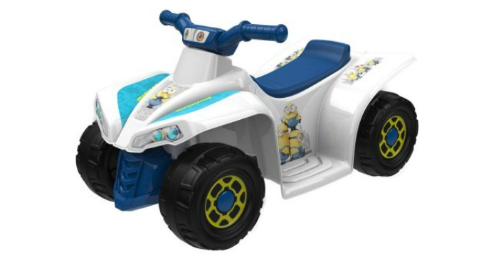 Minions 6-Volt Little Quad Electric Battery-Powered Ride-On Just $39! Down From $79!