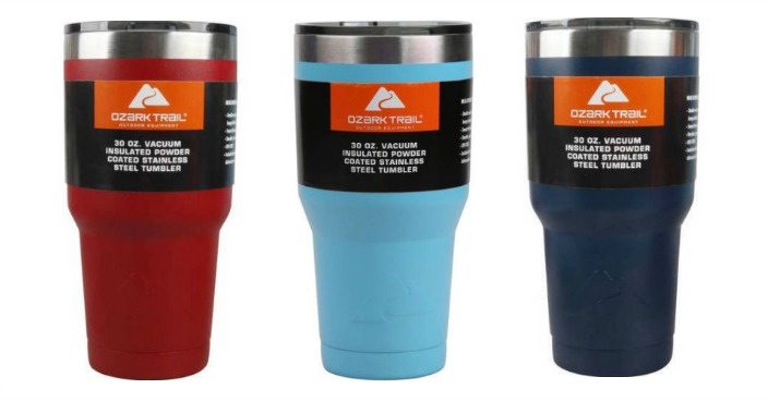 Ozark Trail 30-Ounce Double-Wall, Vacuum-Sealed Tumbler Just $9.74!