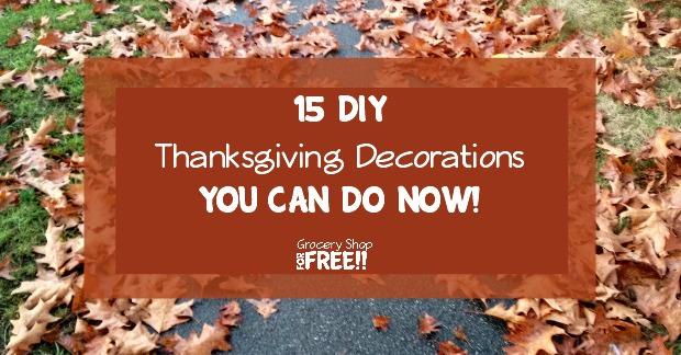 15 DIY Thanksgiving Decorations!