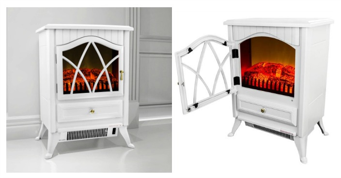 AKDY Freestanding Electric Fireplace Just $99! Down From $296!