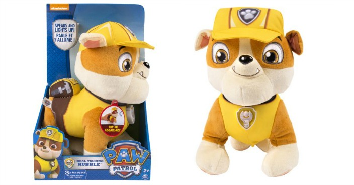 Paw Patrol Real Talking Rubble Just $13.14! Down From $25!
