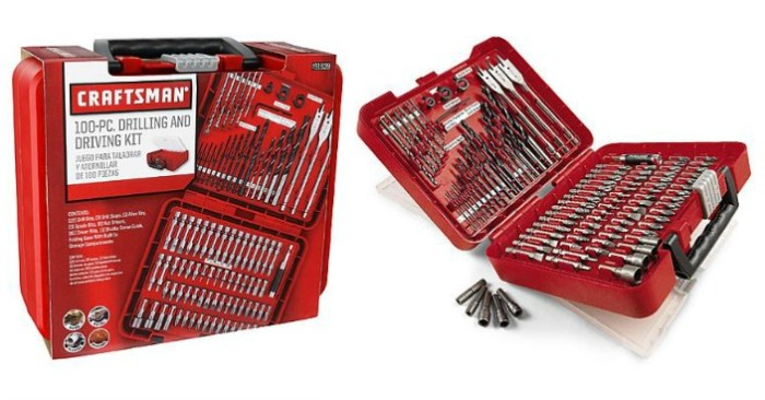 Craftsman 100-Piece Drill Bit Accessory Kit Just $12.99! Down From $30!