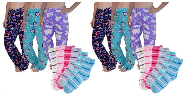 Fleece Pajama Pants & Cozy Fuzzy Socks Just $17.99! Down From $90!