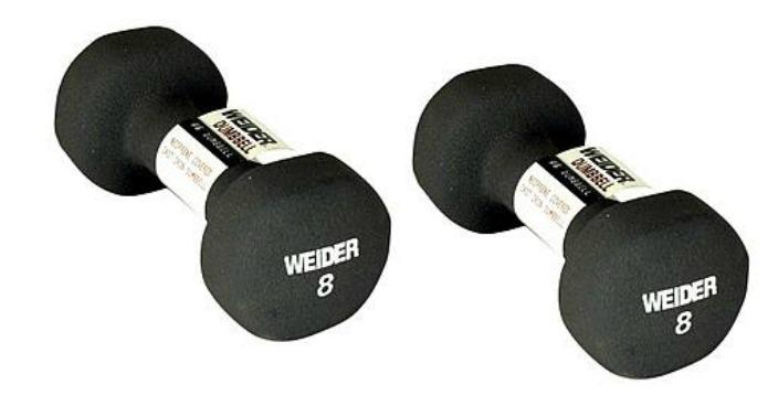 FREE Weider 8 lb. Neoprene Dumbbell!