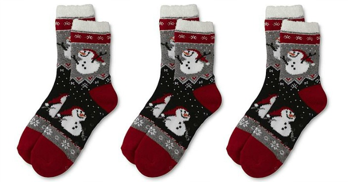 Women's Snowman Slipper Socks